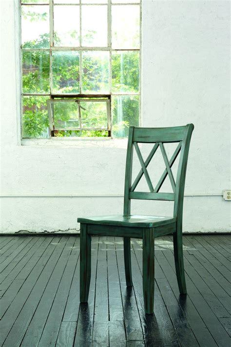 ashley furniture signature design mestler dining room side chair antique blue set