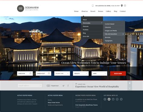 Ocean View Hotel Website Html Template By Basepixels Themeforest Hotel Website Templates