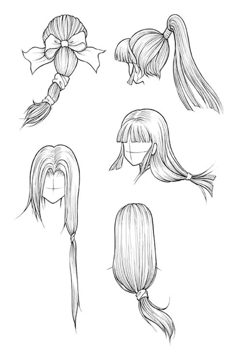 Drawing 4 Fall Hairstyles by About Easy Ideas Fall Hairstyles Drawing About