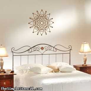 wall stencils ideas for dreamy romantic bedroom decor romantic mandala vinyl wall decal removable patterned