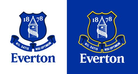 everton fc score   goal  revealing  club crest