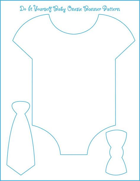 Diy Card Onesie With A Vest Card Template by Template For Our Onesie Bow Tie Banner All We Need Is To