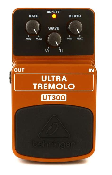Behringer Ultra Tremolo Ut300 Effects Pedal Efek Stompbox Gitar Bass behringer ut300 ultra tremolo pedal sweetwater