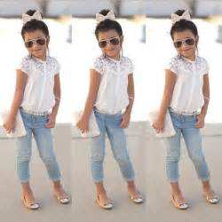 Girls clothing set white blouse kids clothes sets kids children