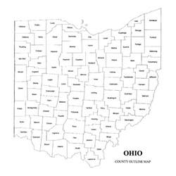 County Map Ohio by Ohio County Map Jigsaw Genealogy