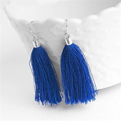 Tassel Drop Earrings tassel sterling silver drop earrings by grace valour