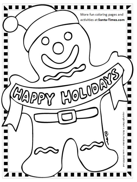 Gingerbread Man Printable Coloring Page Gingerbread Cookie Coloring Page