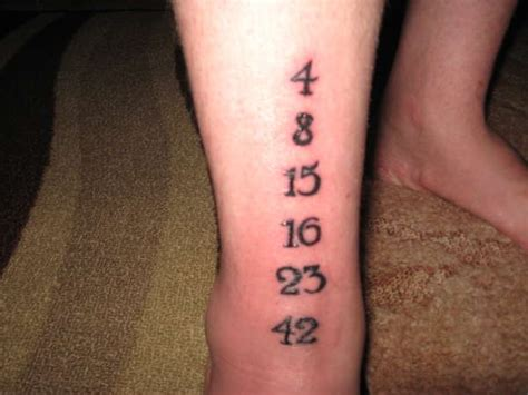 lost tattoo numbers numbers from lost tattoo