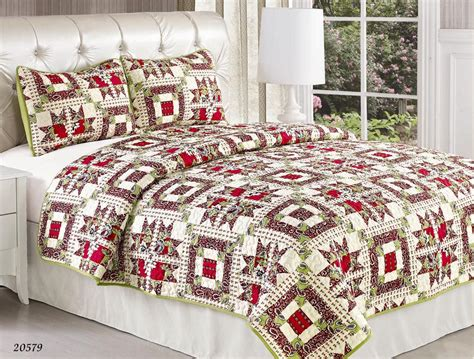 Size Quilts On Sale Promotion Sale New 3pc Cherry Comforter Bedspread