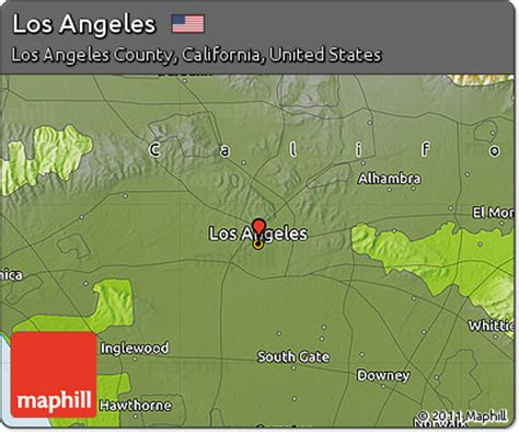 map of the united states los angeles free physical map of los angeles