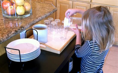 kid friendly kitchen setting the table revisited affordable kid friendly