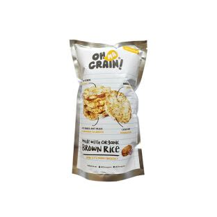 Oh Ma Grain Popped Rice Crackers by Harga Oh Ma Grain Popped Rice Crackers Chicken 50gr