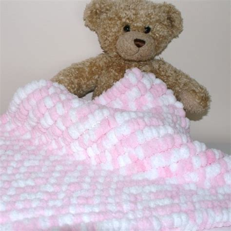 knitting pattern for pom pom baby blanket folksy buy pink and white pom pom baby blanket