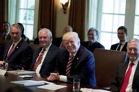 trump s first cabinet meeting trump s cabinet meeting competition i love you more mr