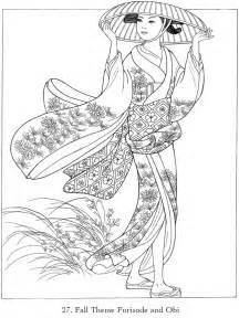 childhood education japanese kimono coloring pictures bubblews