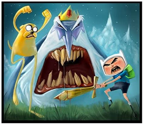 finn, jake & ice king fan art by bobby hernandez