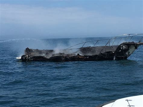 lake rescue boats fellow boater rescues five from burning boat one checked