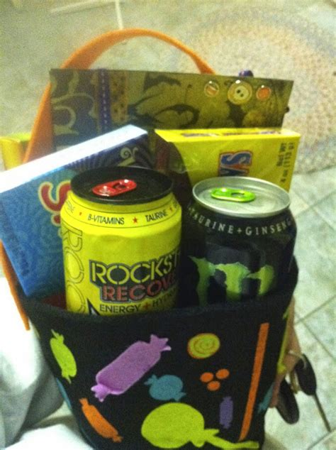energy drink gift basket i solemnly swear that i am up to no gift