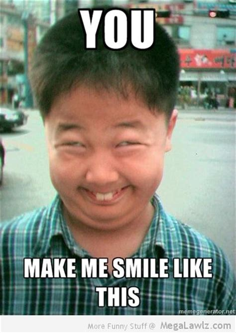 Weird Smile Meme - you make me smile like this megalawlz com