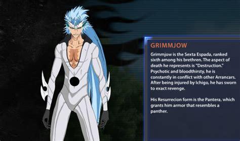 bleach soul resurreccion grimmjow bio  artwork
