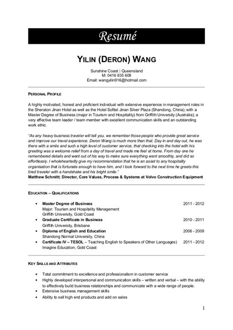 Resume M W by Deron W Resume