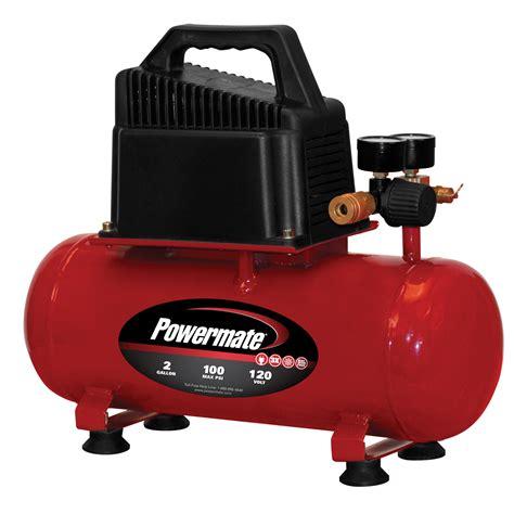 powermate  gallon portable electric compressor  extra  kit