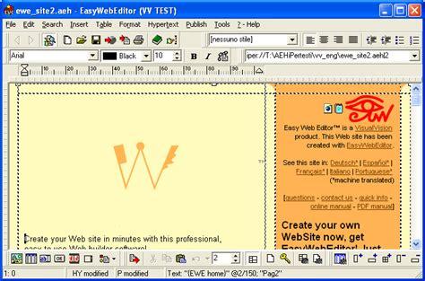easy design maker filegets easy web editor website creator screenshot