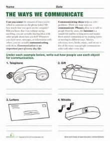 ways we communicate worksheet education com