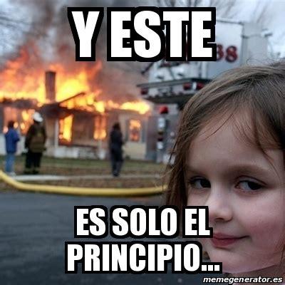 Disaster Girl Meme Generator - meme disaster girl y este es solo el principio 23764038