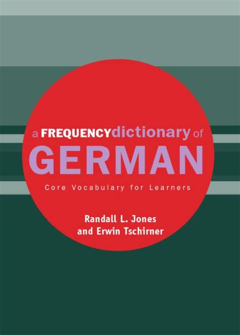 a frequency dictionary of vocabulary for learners routledge frequency dictionaries and edition books a frequency dictionary of german vocabulary for