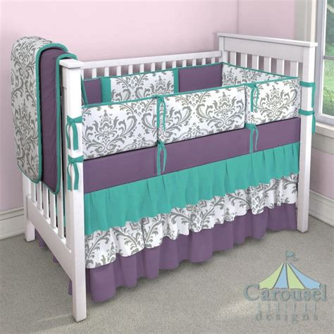 purple and gray crib bedding 25 best ideas about purple crib bedding on pinterest