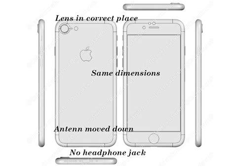iphone 7 plus size iphone 7 plus images appear showing cameras sizes connectors slashgear