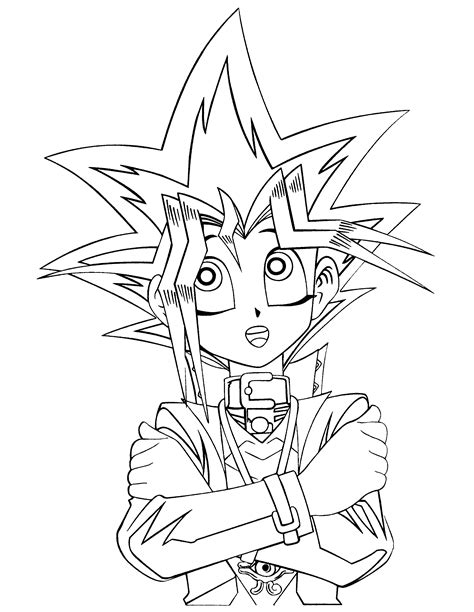 kids n fun com 26 coloring pages of yu gi oh