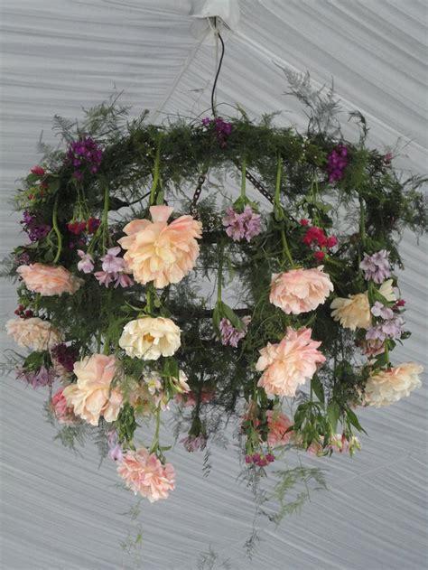 Flower Chandeliers Flower Chandelier Farm Wedding Ideas
