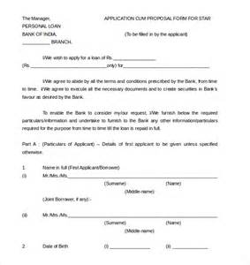 personal loan application form template personal loan application letter to company sle