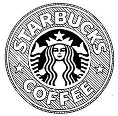 coloring page of starbucks starbucks logo drawing tumblr black and white coffee