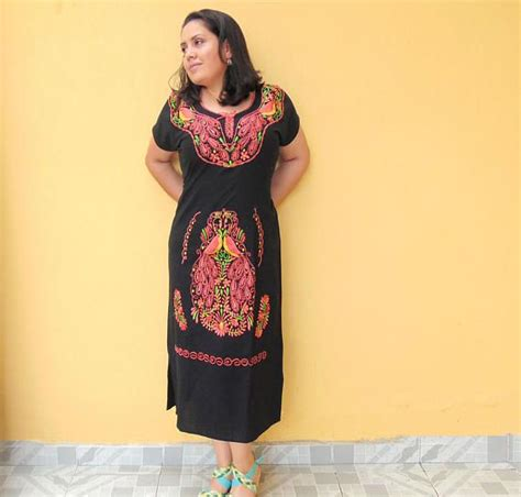 Aida Maxi Soft Pink best 25 mexican embroidered dress ideas on