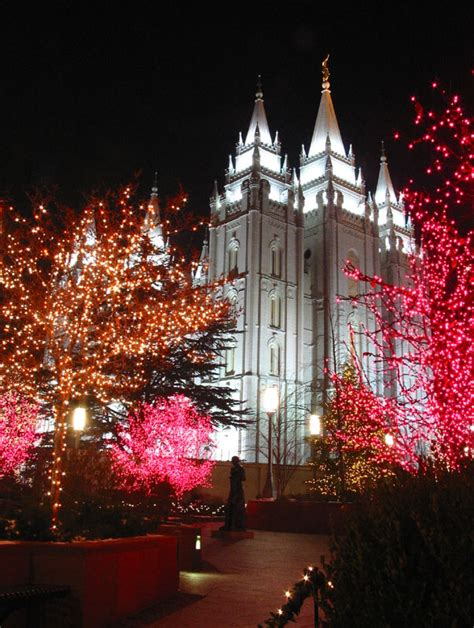 salt lake city temple lights salt lake temple lights revisited a photo from utah