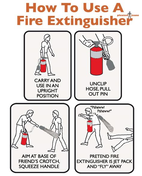 how to use a extinguisher pleated