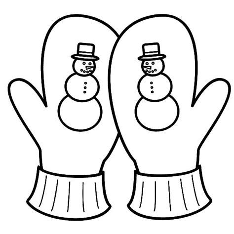 mitten coloring page gloves and mittens coloring pages sketch coloring page