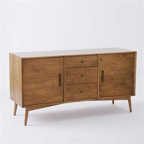 elm media cabinet mid century media console large elm