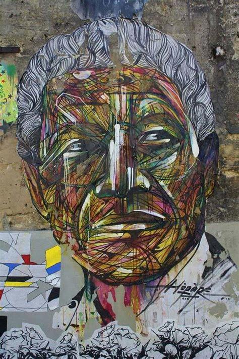 french graffiti artist hopare paints  street art mural