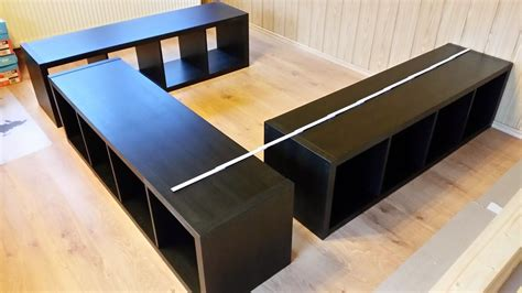 Kinderküche Selber Bauen Ikea Lack by Buchie De Ikea Hack Aus Kallax Wird Ein Bett Pinteres