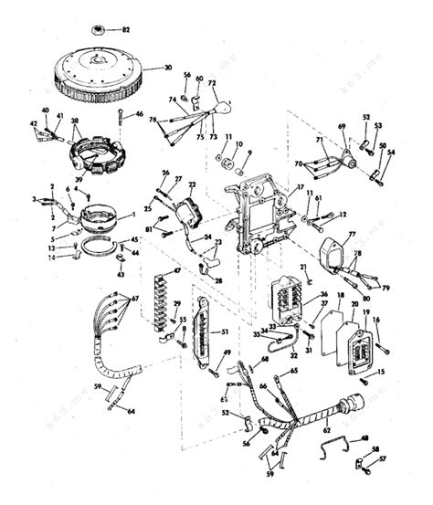 Evinrude 1972 50 50273c Ignition System Parts Catalog