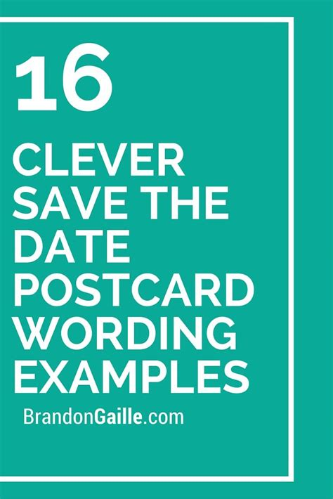 save the date wedding wording exles 16 clever save the date postcard wording exles clever