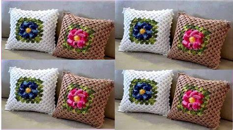 cojines con rosas a crochet 1 186 video cojines tejidos a crochet variados modelos youtube