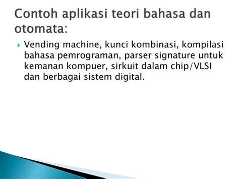 Teori Bahasa Otomata ppt teori bahasa otomata automata powerpoint