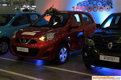 nissan cars chennai one millionth car rolls the renault nissan automotive