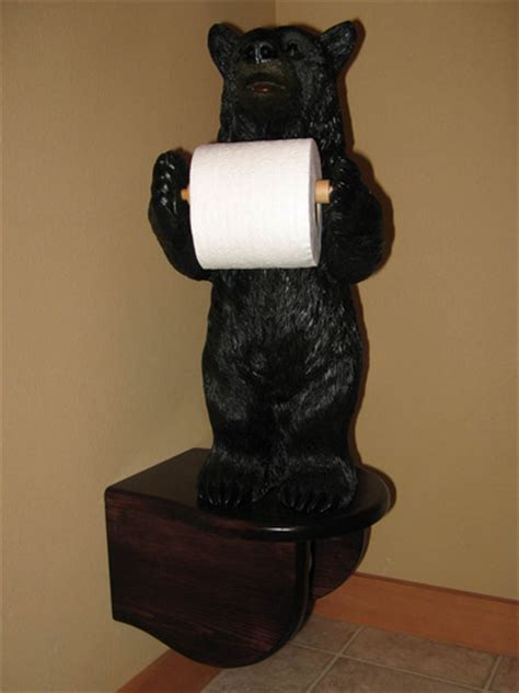 bear toilet paper holder amazon com rivers edge products standing bear toilet