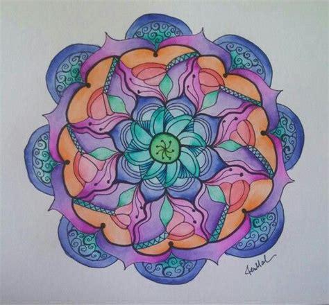 mandala 2 watercolor and pen tattoo style speed drawing watercolor mandala 3 1 14 by jen marsh mandalas pinterest